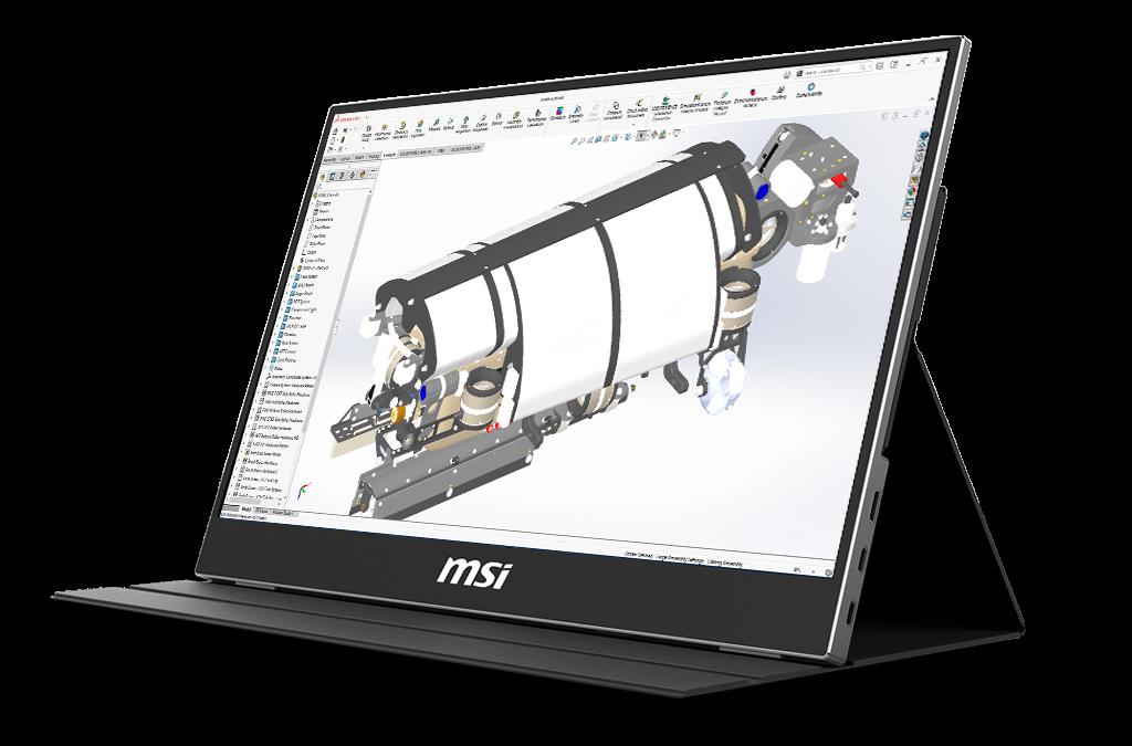 Tragbares MSI-Display für Laptops